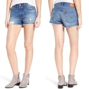 Levi's   NWT 501 Distressed Cutoff Denim Shorts